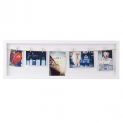 Clothesline White Flip Photo Frame