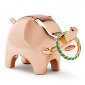 Copper Anigram Elephant Ring Holder