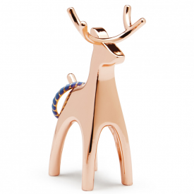 Copper Anigram Reindeer Ring Holder
