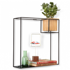Cubist Large Shelf Black