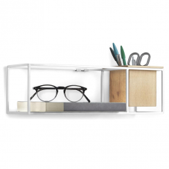 Cubist Small Shelf White