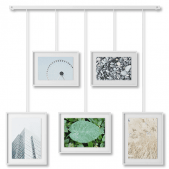 Exhibit Wall Picture Frames Set of 5 White