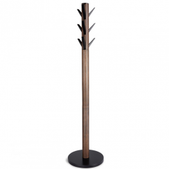 Flapper Coat Rack in Walnut Black