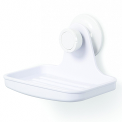 Flex Gel-Lock Suction Shower Soap Dish White