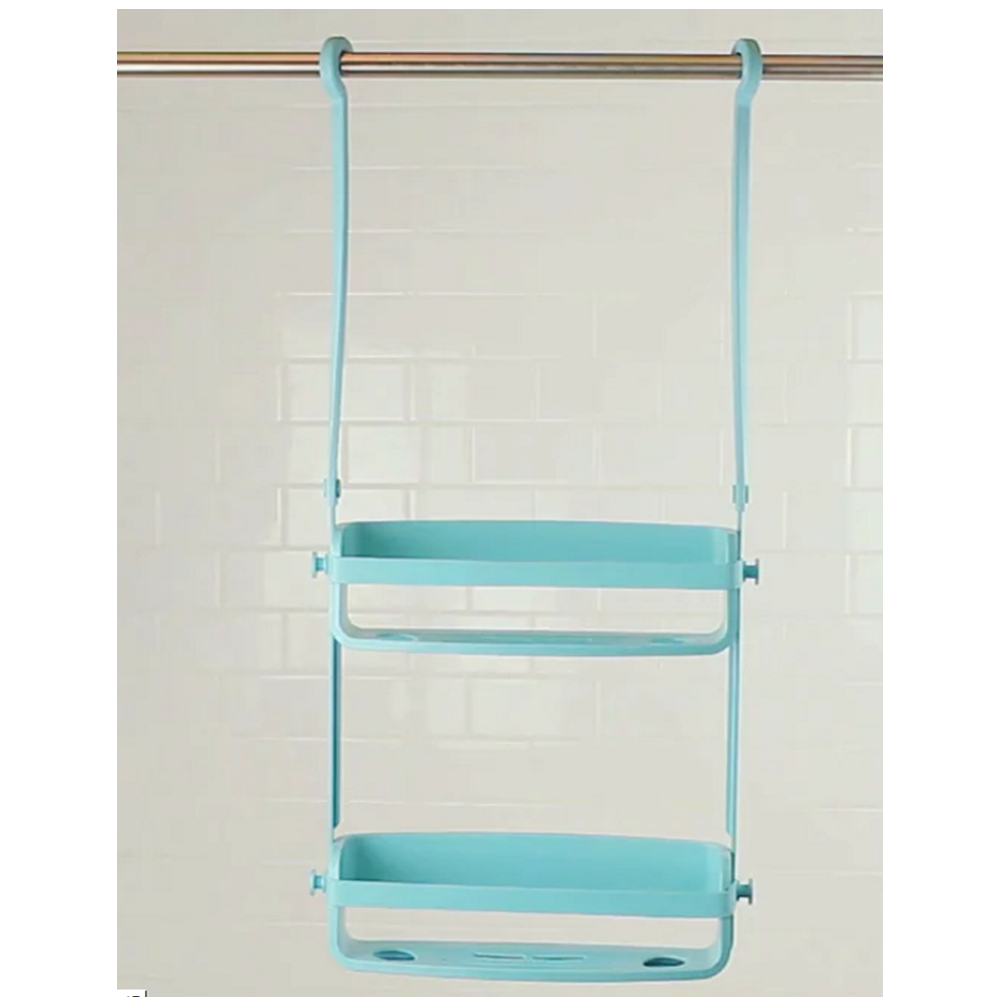 Umbra Flex Shower Caddy in Surf Blue @ Flamingo Gifts