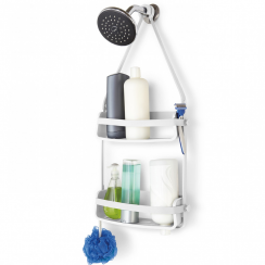 Flex Shower Caddy in White