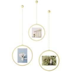 Fotochain Round Photo Frame Brass