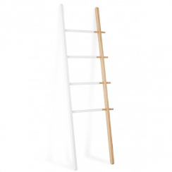 Hub Ladder, White & Natural