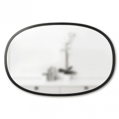Hub Mirror Oval Black