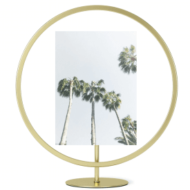 Infinity Floating Picture Frame 5 x 7 Matte Brass