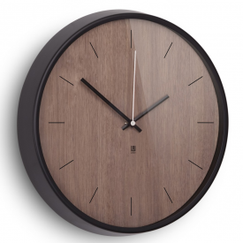 Madera Wall Clock Walnut