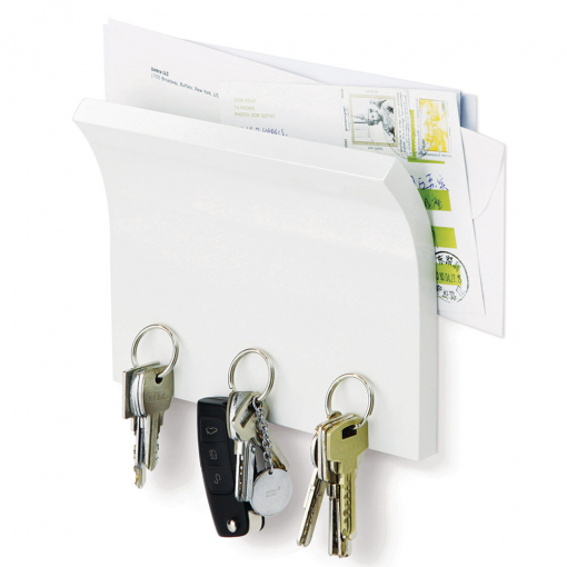 Magnetter Organizer Key & Letter Holder White