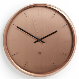 Meta Wall Clock Copper