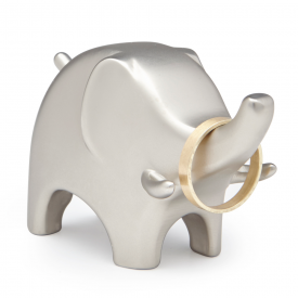 Nickel Anigram Elephant Ring Holder