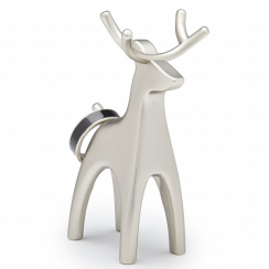 Nickel Anigram Reindeer Ring Holder