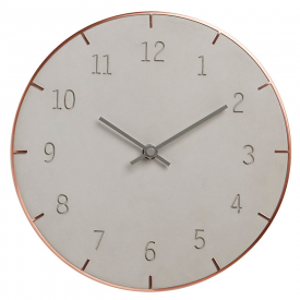 Piatto Concrete Clock Copper