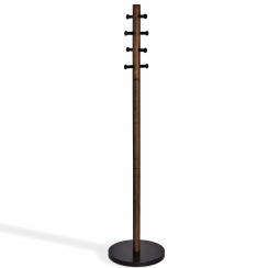 Pillar Coat Rack Black