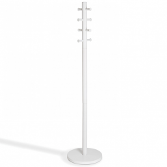 Pillar Coat Rack White Wood