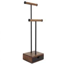 Pillar jewellery Stand Walnut