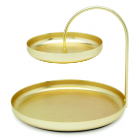Poise Large Accessory Tray Brass