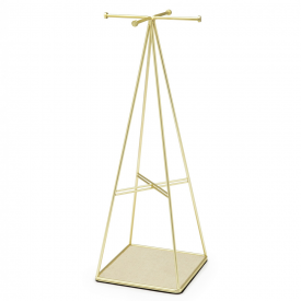 Prisma Gold Finish Jewellery Stand