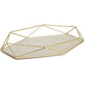 Prisma Jewellery Tray Matte Brass