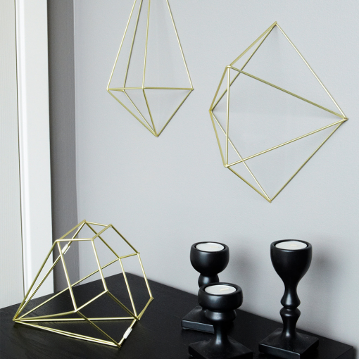 Umbra Prisma Matte Brass Wall Decor from Flamingo Gifts.