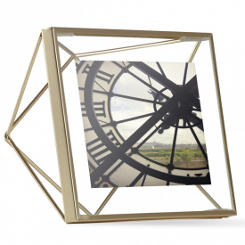 Prisma Photo Frame 4 x 4 Matte Brass