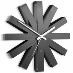 Ribbon Wall Clock Black