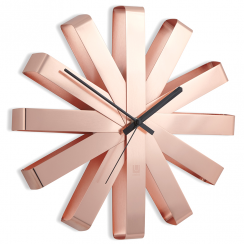 Ribbon Wall Clock Copper