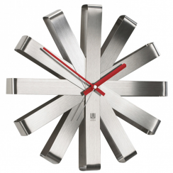 Ribbon Wall Clock Steel