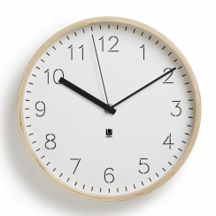 Rimwood Clock Natural White