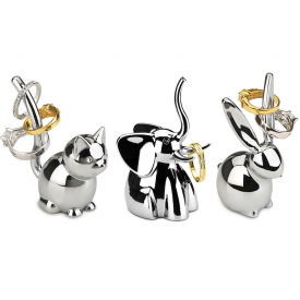 Set of 3 Zoola Ring Holders Chrome