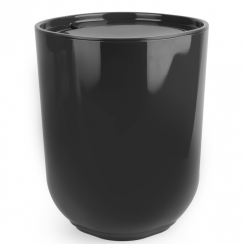 Step Waste Can Bin with Lid Black