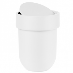 Touch Waste Bin Can with Lid White
