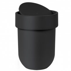 Touch Waste Can with Lid Black