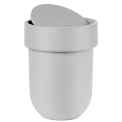 Touch Waste Can with Lid Grey