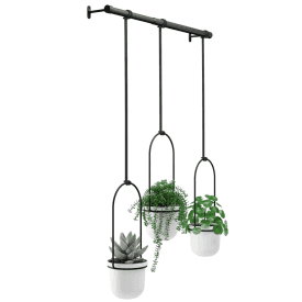 Triflora Hanging Planter Black