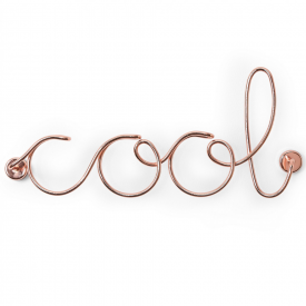 Wired Copper Cool Wall Art