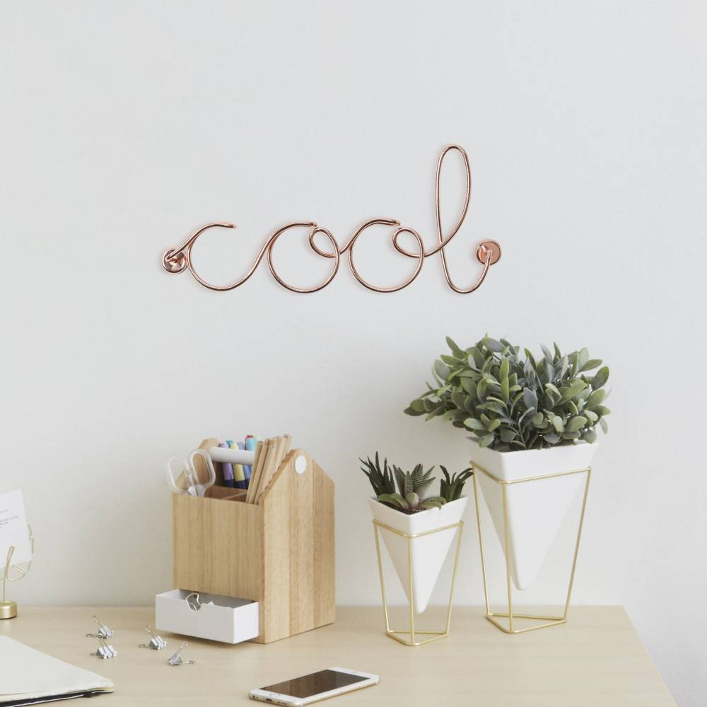 umbra wired copper cool wall art flamingo gifts umbra wired copper cool wall art