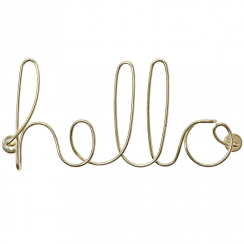 Wired Hello Brass Wall Art
