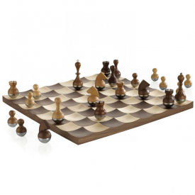 Wobble Chess Set Solid Walnut