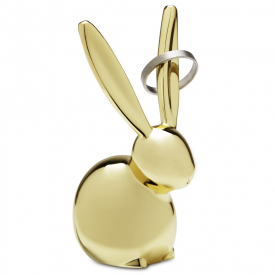 Zoola Bunny Ring Holder Brass