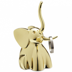 Zoola Elephant Ring Holder Brass