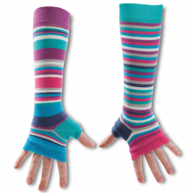 Blue Striped Odd Armwarmers