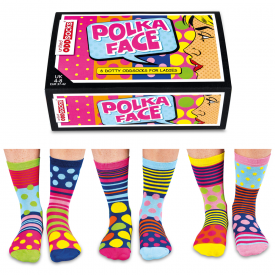 Polka Face Socks Gift Set for Women