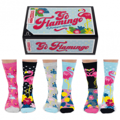 Women's Go Flamingo Socks Gift Set