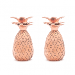 Pineapple Shot Glasses in Copper, Set of 2