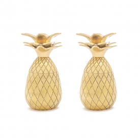 Pineapple Shot Glasses in Gold, Set of 2