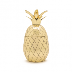 Pineapple Tumbler, 12 oz in Gold